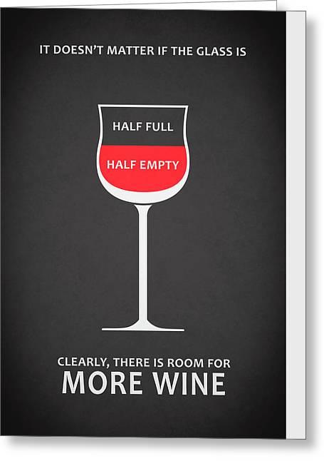 Wine Glasses 1 Greeting Card by Mark Rogan