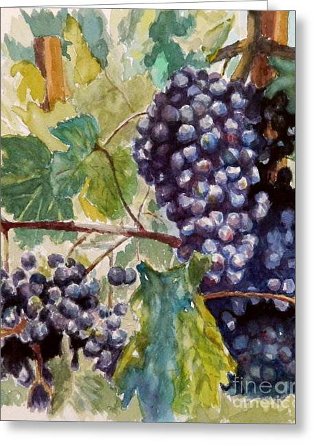 Wine Grapes Greeting Card by William Reed