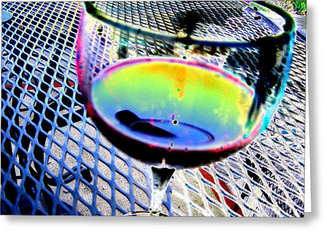 Wine Horizontal Greeting Card by Peter  McIntosh