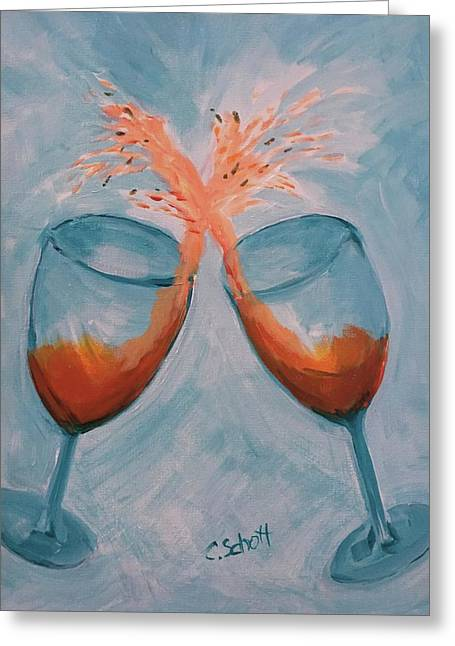 Wine In Motion Greeting Card