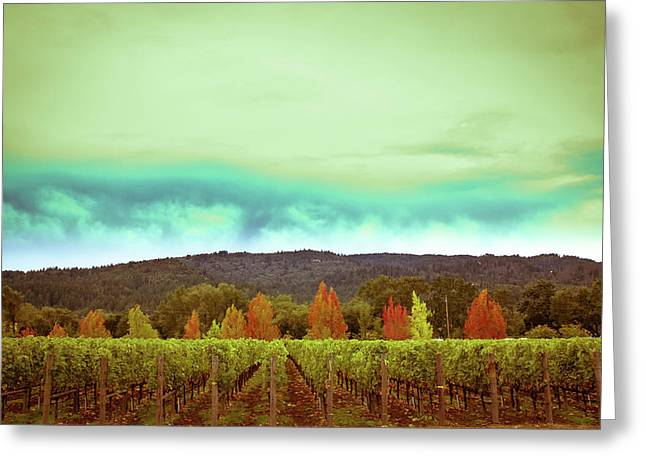 Wine In Time Greeting Card