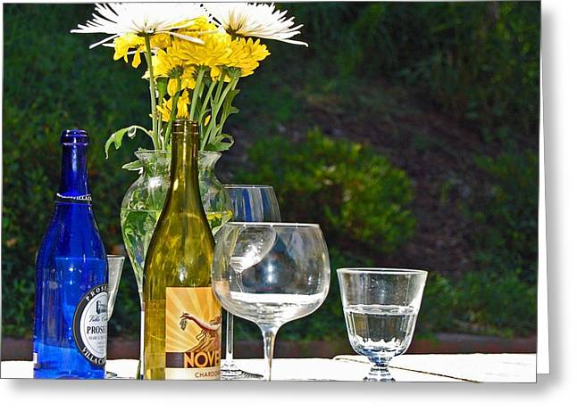 Wine Me Up Greeting Card by Debbi Granruth