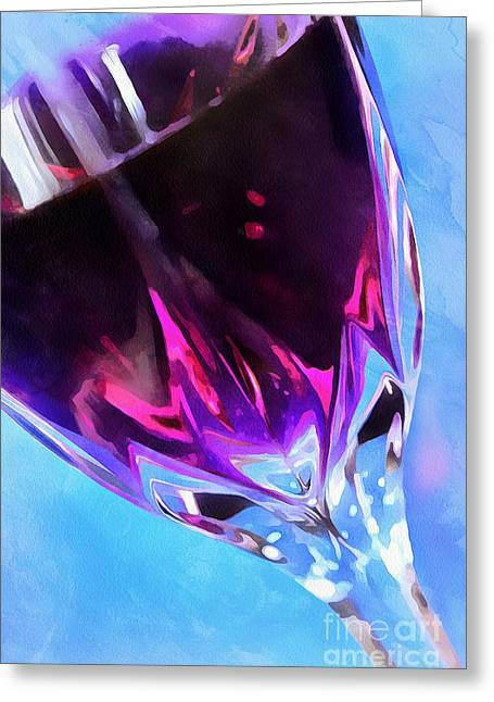 Wine O'clock Greeting Card