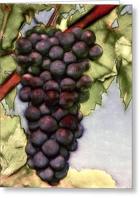 Wine On The Vine Greeting Card by John K Woodruff