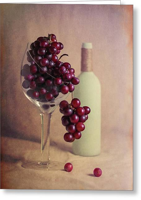 Wine On The Vine Greeting Card by Tom Mc Nemar