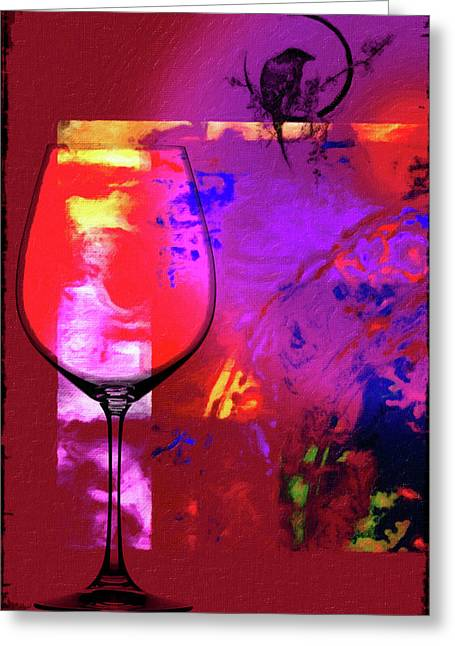Wine Pairings 1 Greeting Card by Priscilla Huber