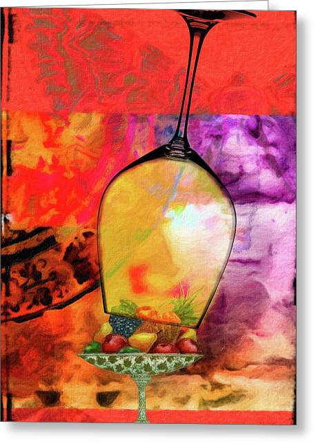 Wine Pairings 8 Greeting Card by Priscilla Huber