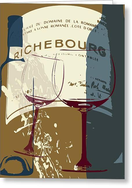 Wine Print #2 Greeting Card