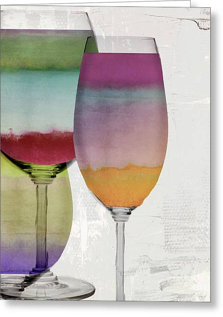 Wine Prism Greeting Card by Mindy Sommers