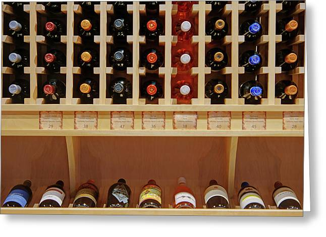 Greeting Card featuring the photograph Wine Rack - 1 by Nikolyn McDonald