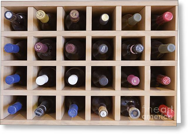 Wine Rack Greeting Card by Jeremy Woodhouse