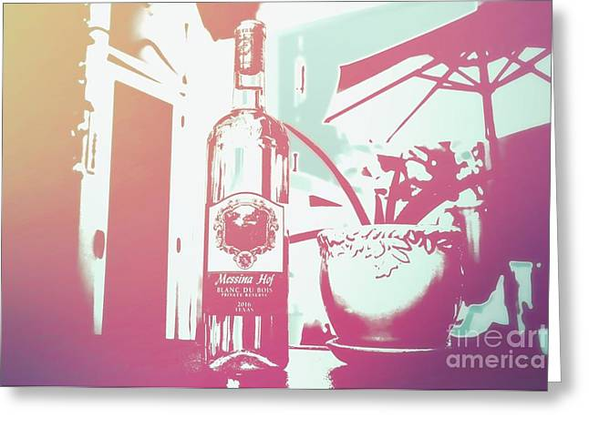 Wine Greeting Card by RJ Aguilar