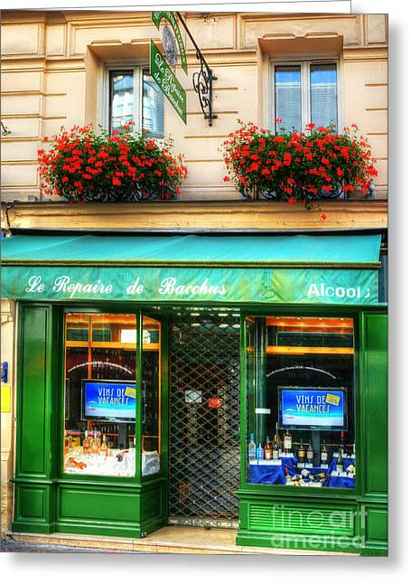 Wine Shop On Rue Cler Greeting Card