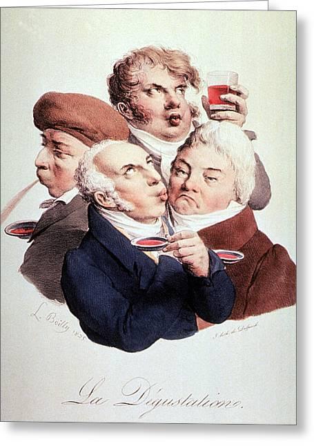 Wine Tasting 1825 Greeting Card by Science Source