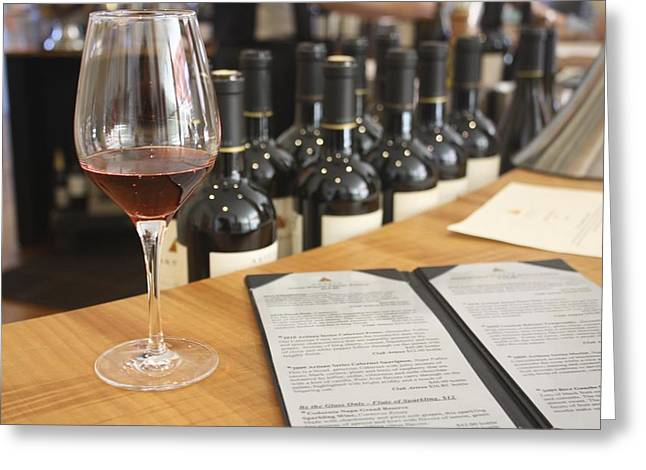 Wine Tasting At Artesia Winery Napa Valley Greeting Card by Diane Leone
