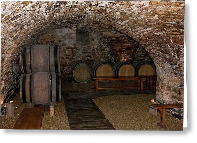 Wine Tasting Cellar Greeting Card