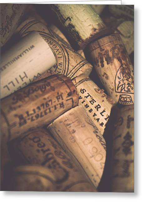 Wine Tasting - Corks Greeting Card