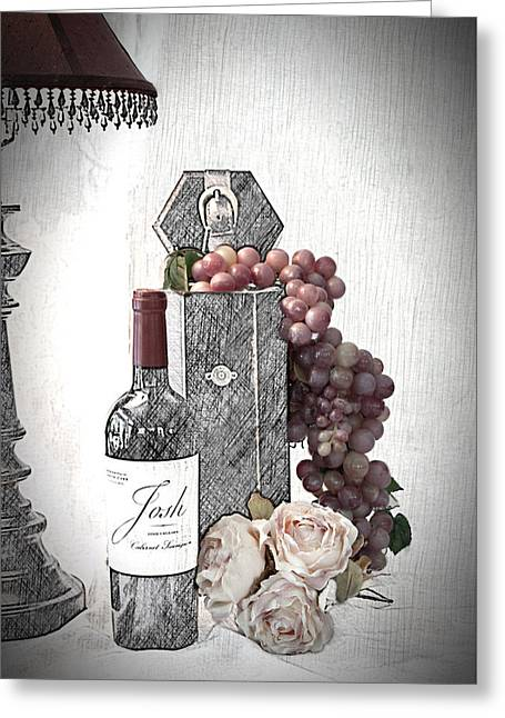 Greeting Card featuring the photograph Wine Tasting Evening by Sherry Hallemeier