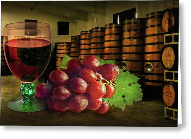 Greeting Card featuring the photograph Wine Tasting by Hanny Heim