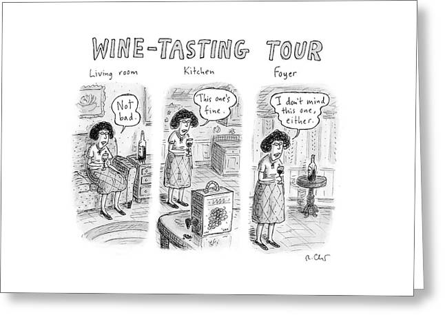 Wine-tasting Tour Greeting Card