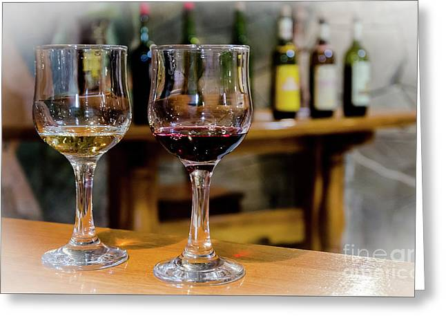 Wine Testing Greeting Card
