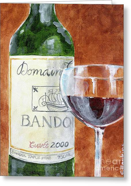 Wine With Dinner Greeting Card by Sheryl Heatherly Hawkins