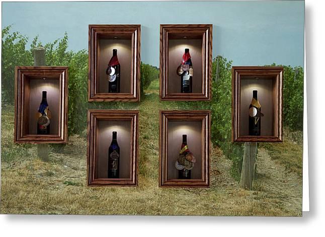 Winery Anyela's Vineyard Skaneateles New York Awards And Vineyard Greeting Card by Thomas Woolworth