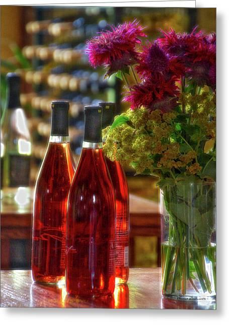 Winery Anyela's Vineyard Skaneateles New York Wine Bottles Pa 02 Greeting Card by Thomas Woolworth