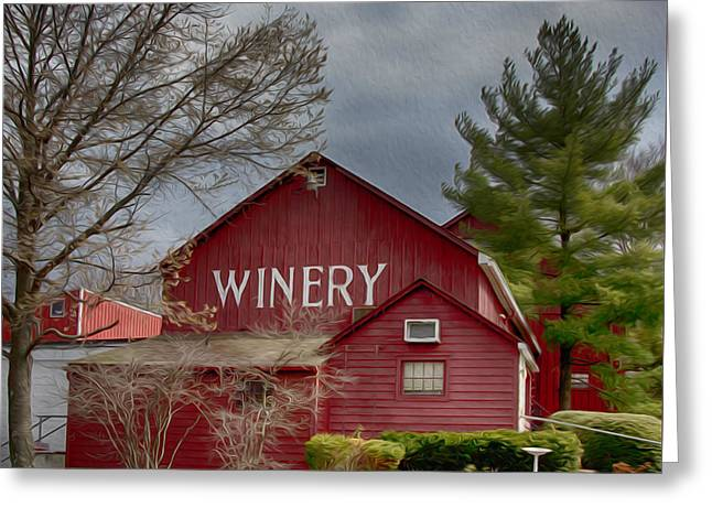 Winery Bucks County  Greeting Card by Tom Gari Gallery-Three-Photography