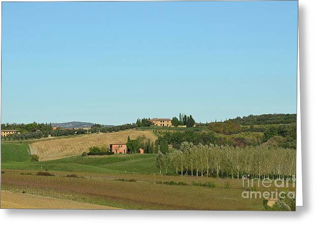 Winery In Tuscany Italy Greeting Card by DejaVu Designs