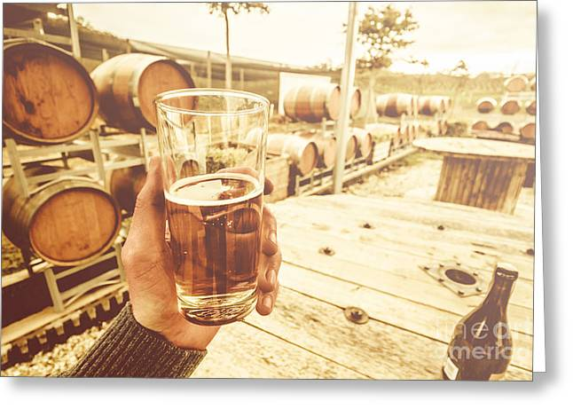 Winery Tours Tasmania Greeting Card by Jorgo Photography - Wall Art Gallery