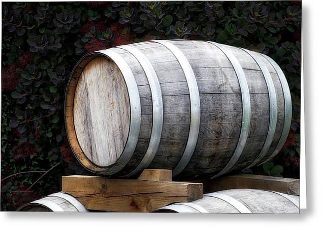 Winery Wine Barrel Greeting Card by Thomas Woolworth