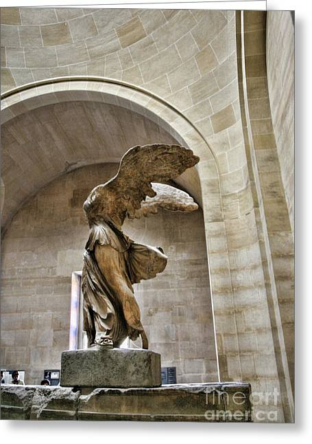 Winged Color Samothrace  Greeting Card