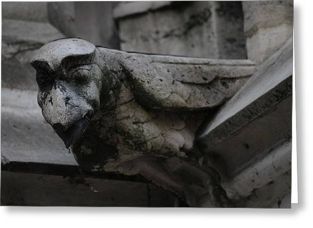 Greeting Card featuring the photograph Winged Gargoyle by Christopher Kirby