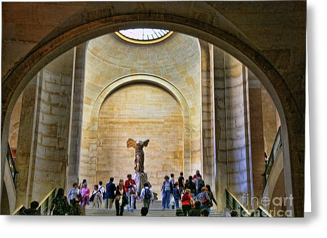 Winged Samothrace Louvre  Greeting Card by Chuck Kuhn