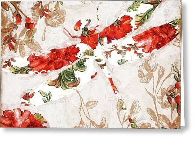 Winged Tapestry II Greeting Card by Mindy Sommers