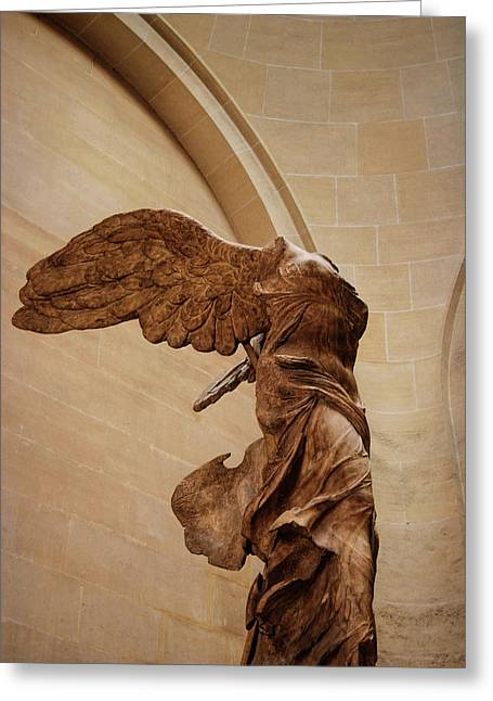 Nike Greeting Cards - Winged Victory Greeting Card by JAMART Photography