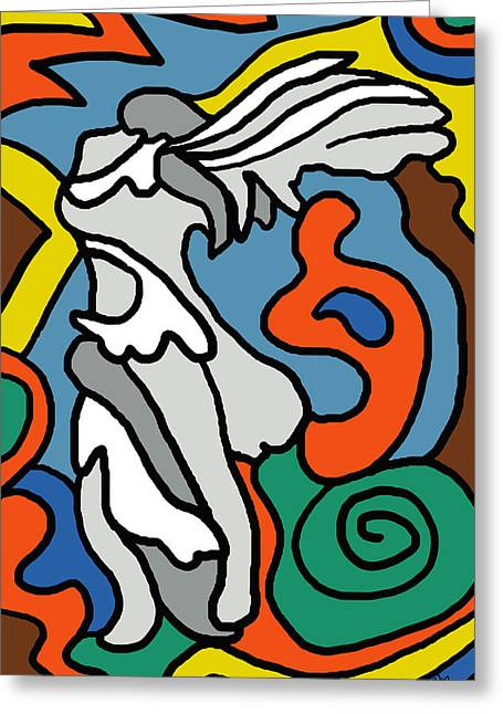 Winged Victory Imagined Greeting Card by Linda Mears