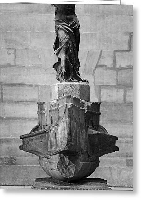 Winged Victory Of Samothrace At The Louvre Greeting Card
