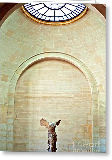 Winged Victory Of Samothrace Louvre Greeting Card by Loriannah Hespe