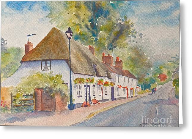 Greeting Card featuring the painting Wingham Nr.canterbury by Beatrice Cloake