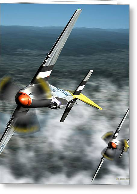 Purchase Art Greeting Cards - Wingman Greeting Card by Jim Coe