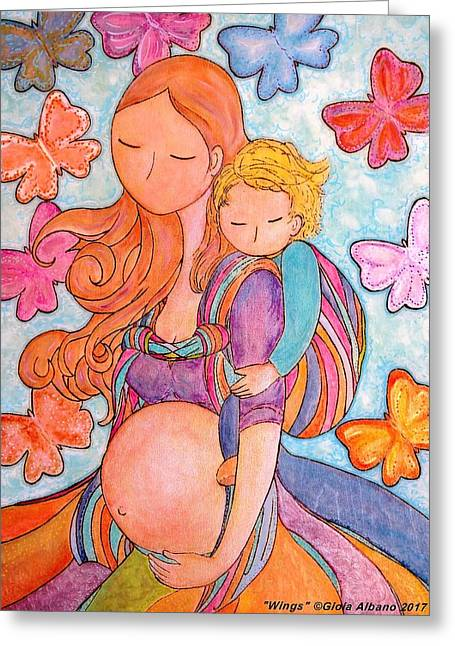 Wings Greeting Card by Gioia Albano