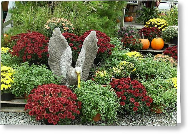 Wings In The Heart Of Mums   Greeting Card by Anne-Elizabeth Whiteway