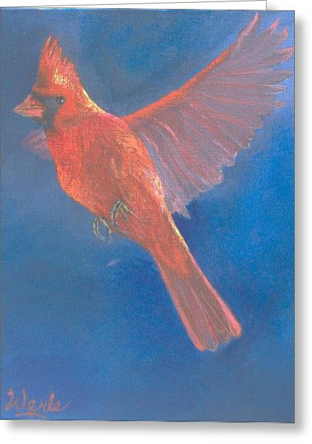 Wings Of A Prayer Greeting Card by Bill Werle