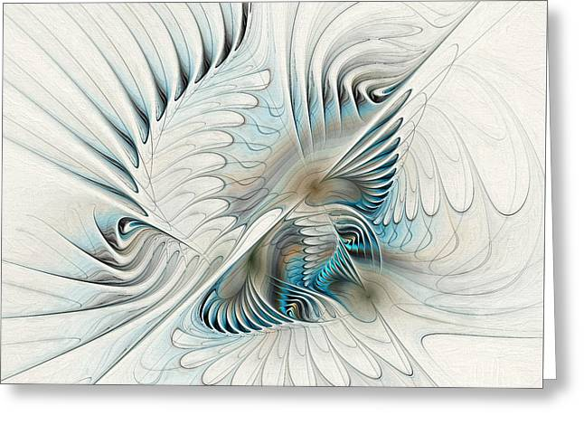 Wings Of An Angel Greeting Card by Deborah Benoit