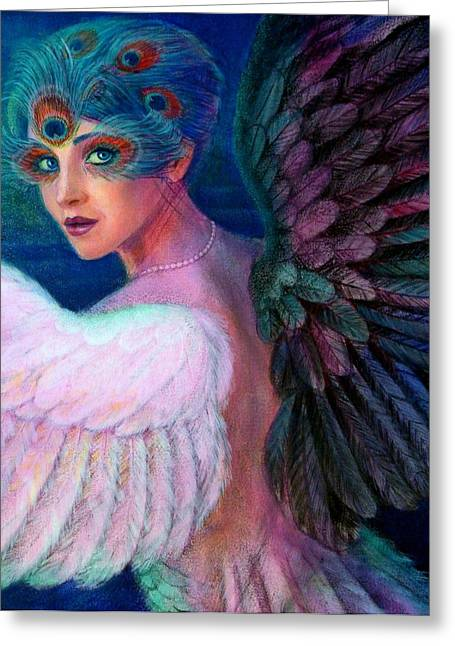 Wings Of Duality Greeting Card by Sue Halstenberg