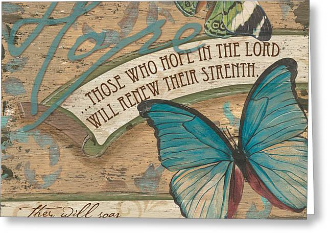 Christian Verses Greeting Cards - Wings of Hope Greeting Card by Debbie DeWitt