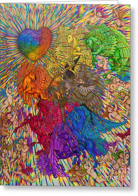 Wings Of Pride Bow Of Freedom Hand-drawn Greeting Card