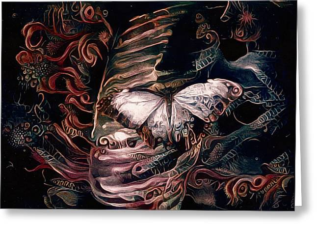 Wings Of The Night Greeting Card by Susan Maxwell Schmidt